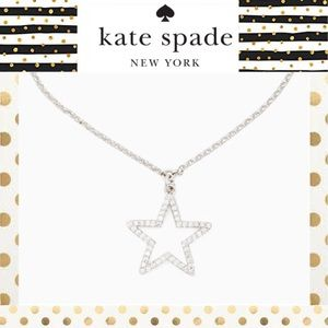 ♠️kate Spade Silver Star Crystal Necklace ♠️